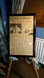 Original Elvis Tupelo newspaper 1977 (picture)