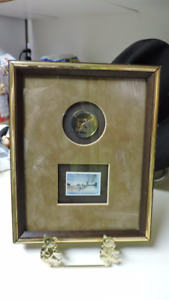 ducks unlimited framed coin five dollar stamp collectible