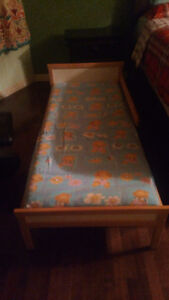 Kids bed  and mattress with slatted base