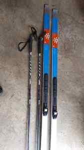 Karhu cross country skis and poles