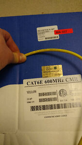 568 feet of CAT6E ethernet cable half price