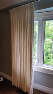 Cream Curtain Drape Panels -Linen