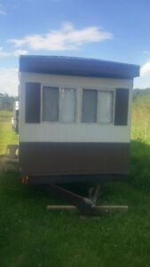 older rare 30 ft trailer tiny home park model ready to be moved