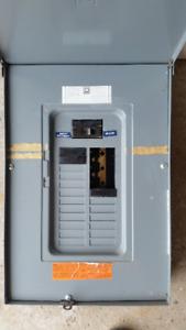 Electrical outdoor 100 amp 24 circuit breaker panel
