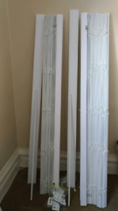 Bouclair White Faux-wood Blinds