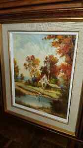Beautiful oil on canvas landscape painting by Paul A. Bagossy West Island Greater Montréal image 2