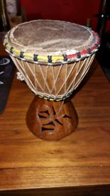 Vintage African Djembe Drum