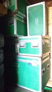 6 heavy duty insulated audio cargo boxes