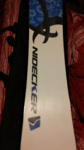Nidecker snowboard, bindings, boots and bag too.