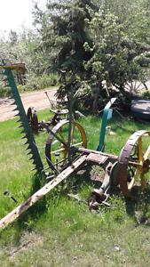 Working antique hay mower