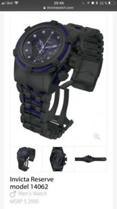 Montre Invicta bolt zeus  black