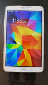 """8"""" Samsung Galaxy Tab 4 tablet, white, with case & charger"""