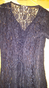 Size 8 navy blue lace dress