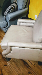 "MAKE AN OFFER - 1yr old ""Leather Chair"" by Steven and Chris!!"
