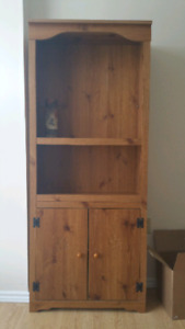 Book case with two cupboards