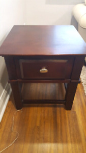Coffee table + end table- solid wood $75 OBO