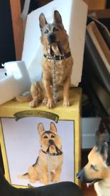 Set of 3 Alsatian dogs ornaments