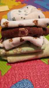 Burp cloth and receiving blankets