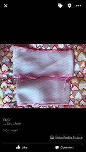 Breathable bumper pads - pink