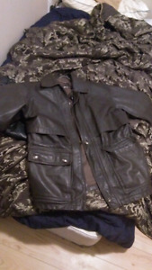 Mens 100% leather jacket