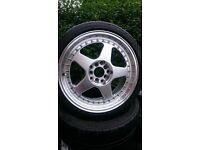 Oz Futura Reps with tyres 5x100 5x112 vag mk4 golf seat Audi skoka Vw