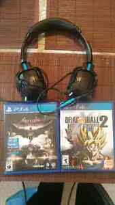 2 ps4 games and a ps4 headset 50$ OBO
