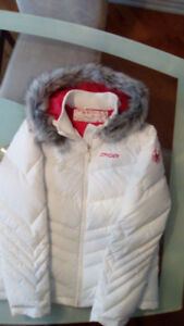 Snyder, Women's White Ski/Winter Jacket. . Size 10