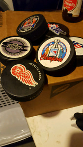 Assorted pucks