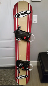 Snowboard , boots and bag