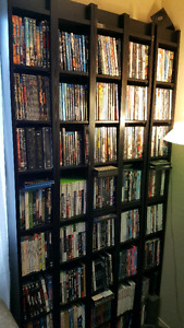 BLU-RAY, DVD' S AND SHELVES