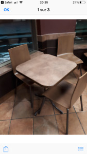 Tables + chaises