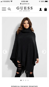 Guess ladies poncho sweater
