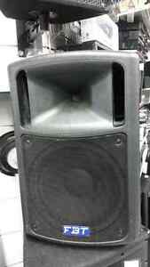 FBT Active PA Speakers (pair).  We sell used pro-audio equipment