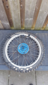 1984 Suzuki Rm125 Front tire and parts