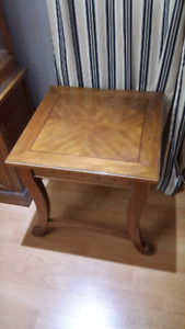 Solid wood side tables (two)