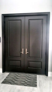 SELLING ::: Fiberglass Front Door Slabs Only Dark Mocha Brown