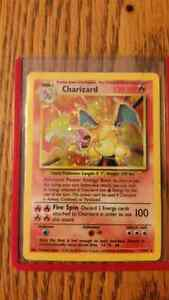 1st or 2nd gen Charzard pokemon card for sale. good condition
