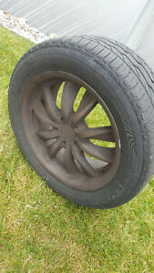 set of Euro max rims with Dunlop 205/55R16 tires