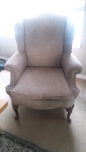 Re-up holstered wing back chair, HIGH QUALITY