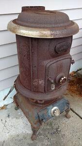 Wood/Coal Cylinder Antique Stove