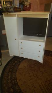 White Dresser/Wardrobe for sale