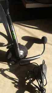 Xbox 360 headset with mic mute and volume control