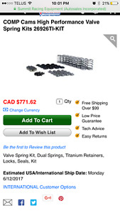 Ls valve spring and retainer kit