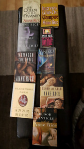 Anne Rice Vampire Chronicles - 9 books for sale, 7 hard cover