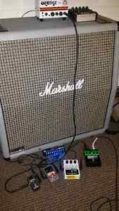 LIMITED EDITION Marshall silver 4x12