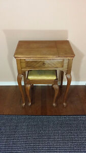 Singer Electric Sewing Machine Table with Stool