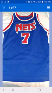 mitchell & ness anderson nets AUTHENTIC JERSEY size 52