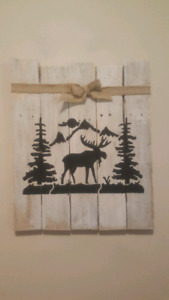 Handmade reclaimed wood forest