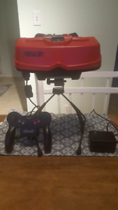 Virtual Boy Console and Warioland Game