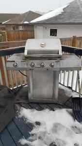 Centro BBQ with cover and propane tank